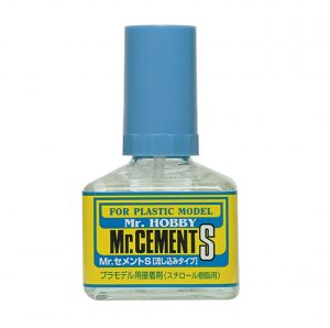 Gunze Mr Hobby MC129 Mr Cement S Fine Tip Extra Thin Non-Corrosive 40ml